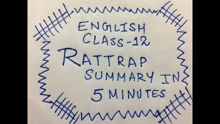 ENGLISH CHAPTER RATTRAP SUMMARY IN 5 MINUTES