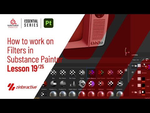 How to work on Filters in Substance Painter?   Lesson 19 of 25   Substance Painter Full Course