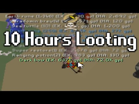 10 Hours of Looting PVP areas in OSRS