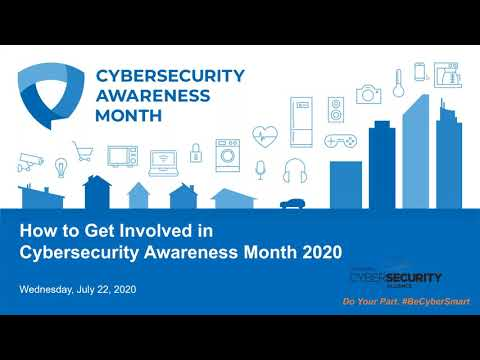 Webinar: How to Get Involved in Cybersecurity Awareness Month 2020