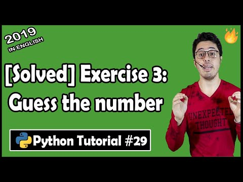 Number Guessing Game: Python Exercise 3 Solution | Python Tutorial #29 thumbnail