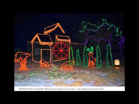 Christmas Lights in Oklahoma with music by REO Speedwagon