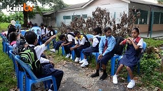 school closure forces tamil school students to study under trees