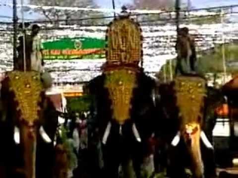 Thiruvambady chandrashekaran and Thrikkadavoor shivaraju in Eranakulathappan2011