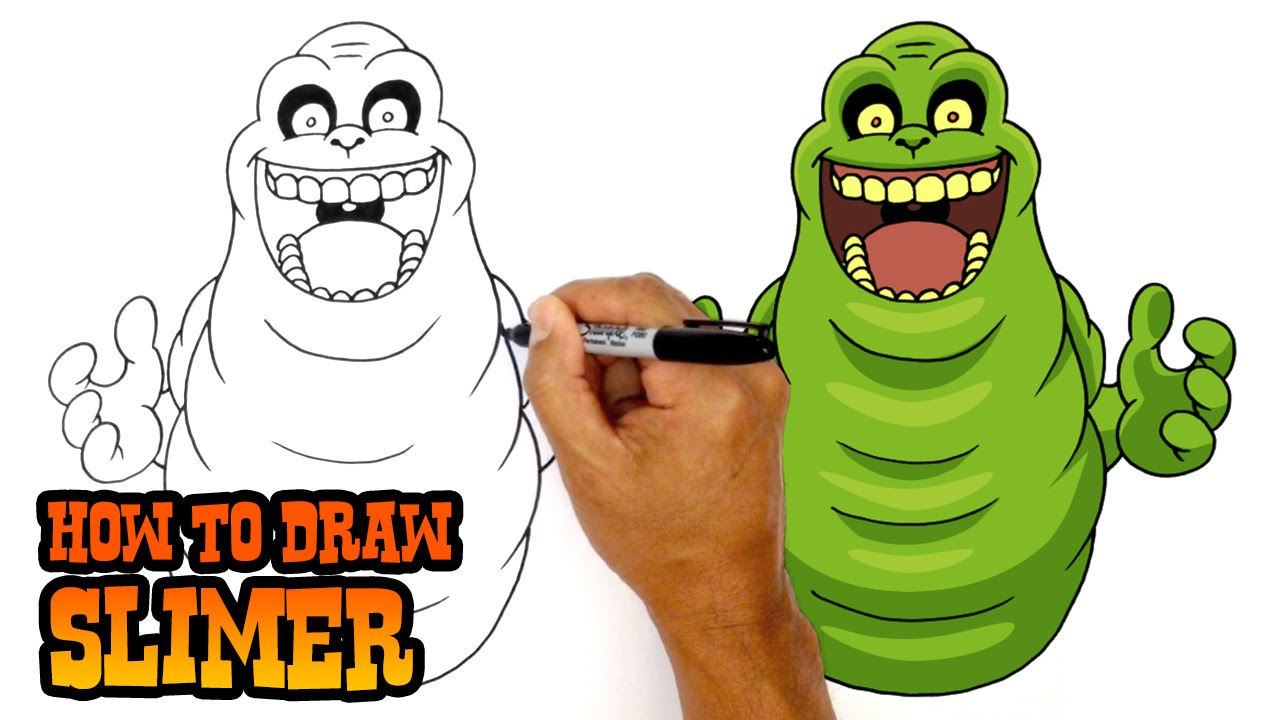 How To Draw Slimer Ghostbusters Youtube