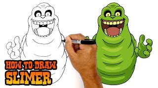 How to Draw Slimer | Ghostbusters