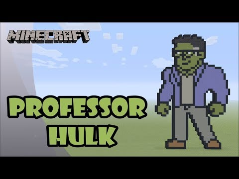 Minecraft: Pixel Art Tutorial and Showcase: Professor Hulk (Avengers: Endgame) thumbnail