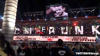 Chris Jericho & CM Punk Entrance Live @WrestleMania 28
