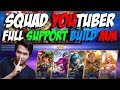HAMPIR MANIAC !! SQUAD YOUTUBER FULL SUPPORT BUILD MM !! Mobile Legends Indonesia #Day7