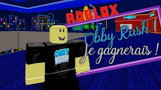 I have to win his race races! Roblox Obby Rush