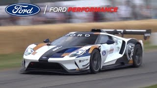 Ford GT MK II World Premiere! - LOUD Twin Turbo V6 Engine Sound at Goodwood FOS 2019!