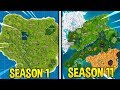 Evolution of Fortnite Map (Season 1 - Season 11)