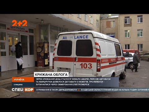 СПЕЦКОР | Новини 2+2: Сумщину атакують крижані дощі: на дорогах аварії, а у травмпунктах десятки пішоходів