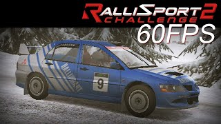RalliSport Challenge 2 60FPS Mitsubishi Lancer Evolution VIII Rally Sweden (Snow) Clean