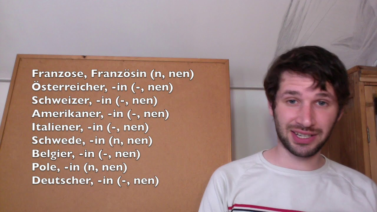 German lessons   20 nationalities and countries   Learn Any Languages