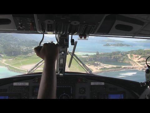 Air Seychelles DHC6 400 Series Landing Mahe Seychelles