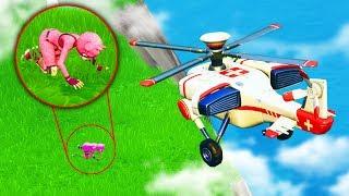FLYING AMBULANCE CHALLENGE in Fortnite Battle Royale
