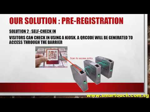 Visitor Management System with online self registration and visitor arrival notification proposal