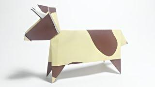 COW ORIGAMI TUTORIAL | ANIMALS ORIGAMI