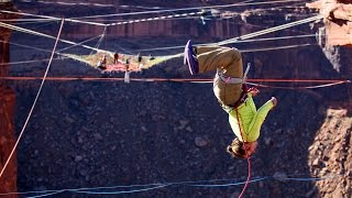 BASE Jumping & Highlining Madness on the Space Net