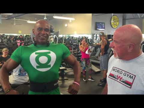Ric's Morning Workout in Gold's Gym North Hollywood