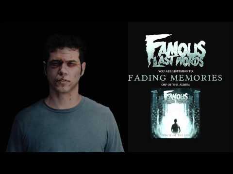 Клип Famous Last Words - Fading Memories