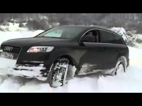 АУДИ Q7 по снегу - YouTube