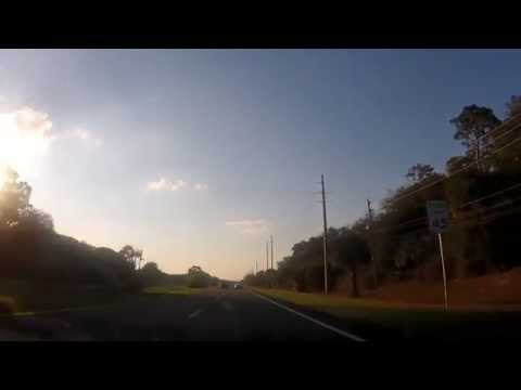 Driving from The Kennedy Space Center to Cocoa, Florida