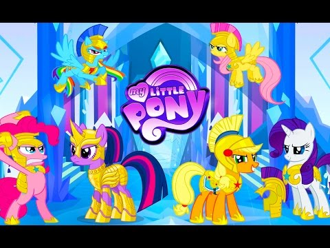My Little Pony Mane 6 Transforms Into Royal Guards - MLP Coloring Videos  For Kids - YouTube