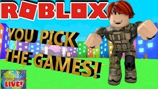 🌎🎮 Roblox   🔴 Live Stream #149   YOU PICK THE GAMES!! ROAD TO 6000 SUBS!! 🎮 🌎