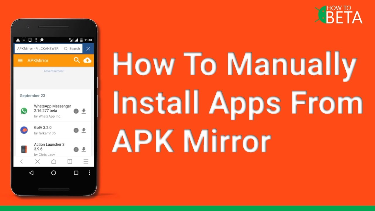 How To Manually Download and Install Apps From APK Mirror [No Root] [Noob]  [Apps]