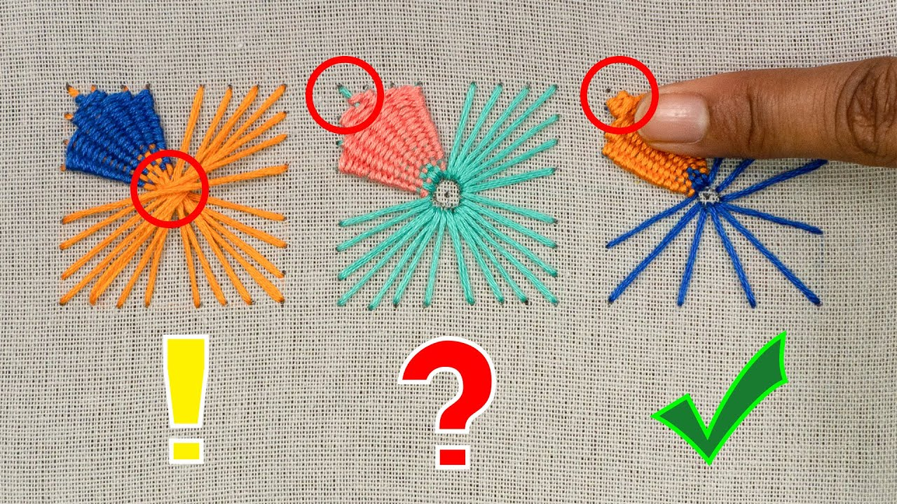 EMBROIDERY ISSUES | Useful Embroidery Tips For Beginners