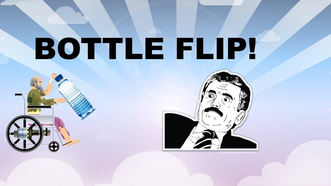 how to make a bottle flip level in happy wheels