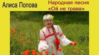 """Русская народная песня """"Ой не трава"""" ( вокал - Алиса Попова )"""