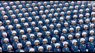استعراض مسير الجيش الصيني تناسق خيالي وابداع