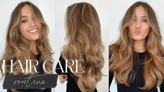 HAIR CARE ROUTINE FOR HEALTHY AND SHINY HAIR | Kate Hutchins