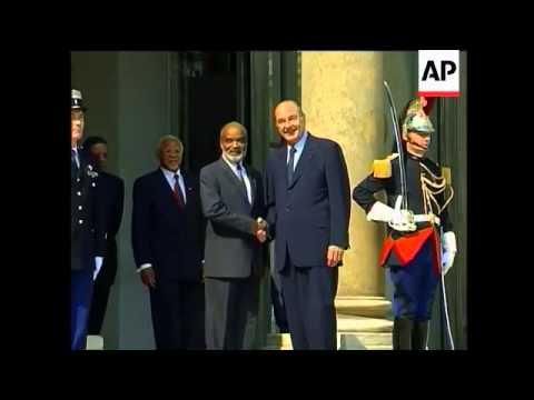 Chirac meets visiting Haitian president Preval