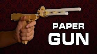 Как Сделать ПИСТОЛЕТ ИЗ БУМАГИ стреляющий пулями, Который Реально Стреляет!?