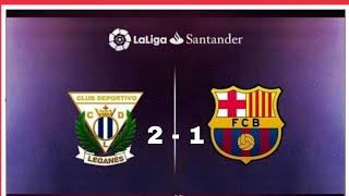 Download Video Leganés vs Barcelona | 2 - 1 | Liga Española | Resumen y Goles MP3 3GP MP4