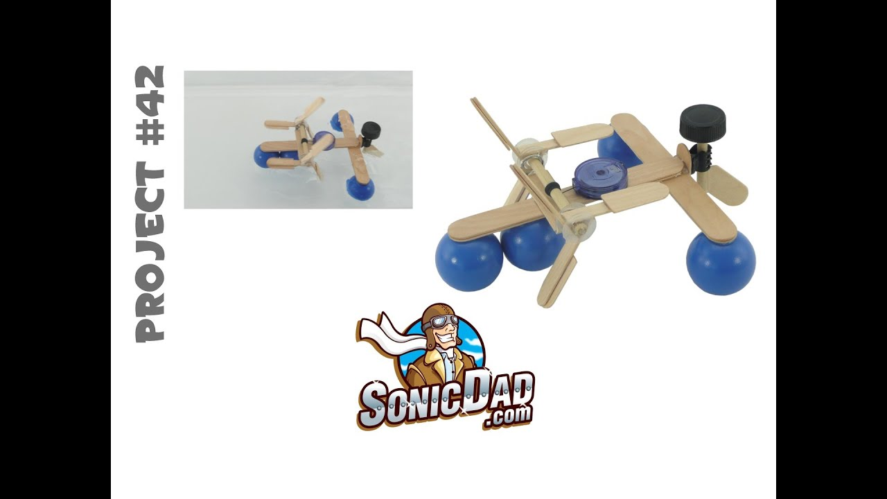 Ping Pong Paddle Boat With Popsicle Stick Paddles Sonicdad Project 42 Youtube
