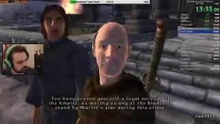 The Elder Scrolls IV: Oblivion Speedrun PB 28:32 IGT (No Out-of-Bounds) (2/28/19)