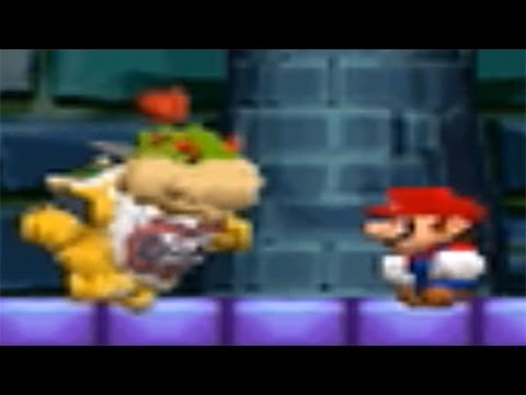 New Super Mario Bros. DS - All Tower Boss Fights (Bowser Jr. Boss Fight Compilation)