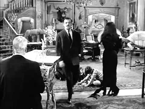 The Addams Family lurch playing the harpsichord