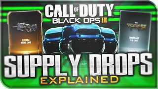 BLACK OPS 3 SUPPLY DROPS EXPLAINED! - RARE & Common Supply Drop SECRETS! (BO3 Supply Drops)
