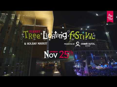 Surrey Tree Lighting Festival: Lineup Announcement - 2017