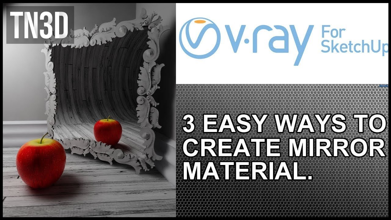 3 easy ways to create mirror material in vray for sketchup for Mirror vray material