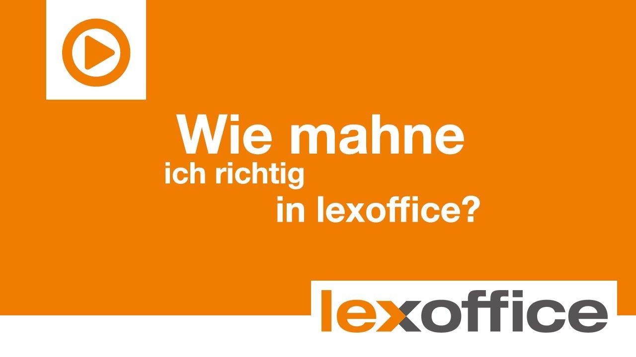 Lexware Lexoffice Tutorial Wie Mahne Ich Mit Lexoffice Youtube