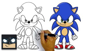 How To Draw Sonic The Hedgehog | Step By Step Tutorial