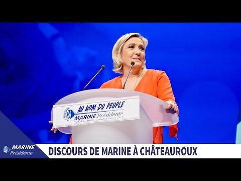 Discours de Marine Le Pen à Châteauroux (11/03/2017)   Marine 2017