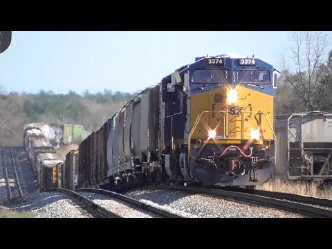 [1k] Running Up and Down the Line, CSX Railfanning Carlton - Winder GA, 01/03/2016 ©mbmars01